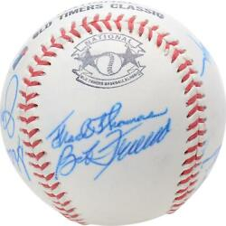 1988 Nl Team Signed Old Timers Cracker Jack Baseball With Mult Sigs - Bas A66585