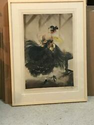 1927 Louis Icart Spanish Dancer Etching Signed, Windmill Stamp