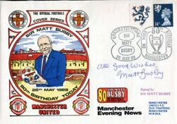 Manchester United Fdc Signed By Sir Matt Busby - Uacc Dealer