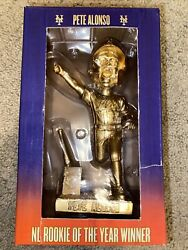Mlb New York Mets Pete Alonso 2019 Nl Rookie Of The Year Gold Bobblehead Ltd Ed.
