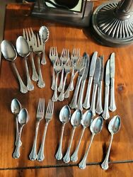 Reed And Barton Regine Stainless 27 Pcs Used Free Shipping