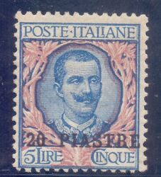 20-2.italyoffices In Turkish Empire1908 Sc.19 Mnhvery Raresigned