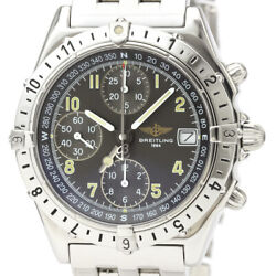 Auth Breitling Watch Chronomat Longitude Ss Automatic A20048 Gray Case40mm F/s