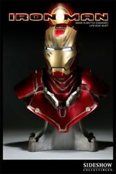 Iron Man Battle Damage Life Size Bust By Sideshow Collectibles Statue
