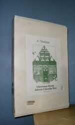 Vintage Boxed Byers Choice Traditions Christmas House Advent Calendar 22 Tall