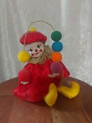 Victoria Collectables Juggling Clown Wind Up Vintage Music Box