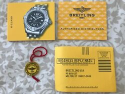 Breitling B-class Watch Papers Instructions + Distributor Card + Hang Tag