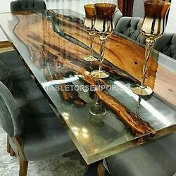 Spalted Maple Bar Top Clear Epoxy Table Acacia Wooden Handmade Hallway Decor Top