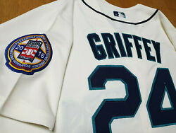 Seattle Mariner 24 Ken Griffey Jr.cooperstown Limited Edition Patch Sewn Jersey