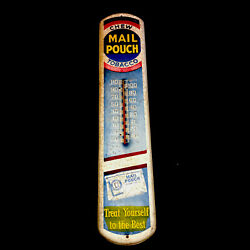 Chew Mail Pouch Tobacco Thermometer White Advertising Sign