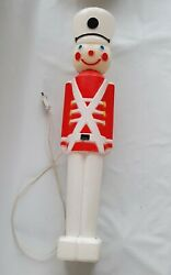 Vintage 1987 Union 30 Christmas Blow Mold Toy Soldier Cord