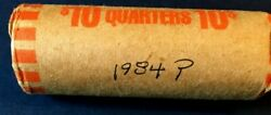1 Roll 1984p Quarters Circulated