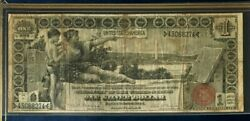 1896 1 Dollar Educational Large Us Silver Certificate, Nice, Dont Miss