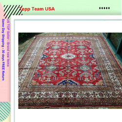 Oriental Rug Fine Super Kazak Wool Hand Knotted Tribal Design Rug 8and0390 X 9and0396