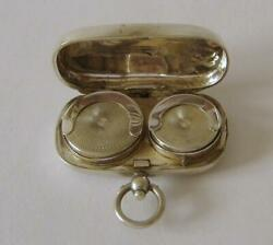 An Antique Sterling Silver Full Sovereign And Half Sovereign Case Chester 1912