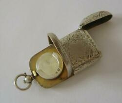 An Antique Sterling Silver Combination Sovereign And Vesta Case Birmingham 1907
