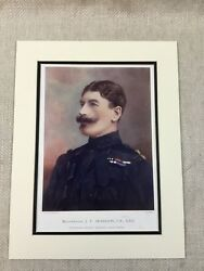 1900 Antique Military Print Major General Brabazon Viceroy Of India British Army