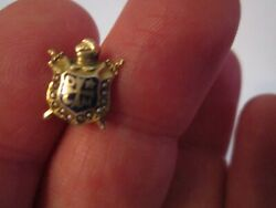 14k Gold Demolay Masonic Lapel Pin With Pearls - Sc-7a