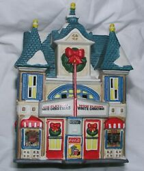 Christmas Village Coca Cola Town Square Strand Movie Theater Light Works Mint
