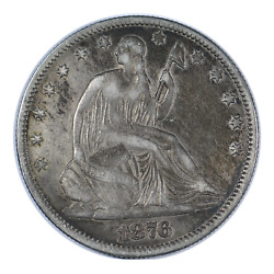 1876 Seated Liberty Half Dollar Extra Fine Condition