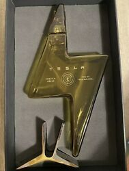 Empty Tesla Tequila Bottle⚡️with Stand - Collectible - In Hand