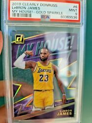 Lebron James 2019-20 Clearly Donruss My House Holo Gold Ssp / 5 Psa 9 Lakers