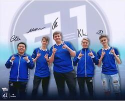 E11 Gaming 2019 Battle Royale Championship Team Signed 16 X 20 Collage Photo