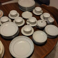 Mikasa Fine China Melville 8298 Made In Japan Set Minus Cups