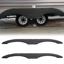 2x Tandem Pair Black Trailer Fender Skirt For Rvs Campers And Trailers Set