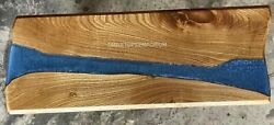 Acacia Epoxy Blue Resin Dining Table Kitchen And Coffee Table Office Table Arts