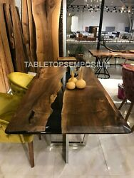 Handmade Epoxy Table Acacia Wood Special Epoxy Wood Resin Table Home Decoration