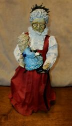 Vintage 1988clothique Possible Dreams ☆christmas☆holiday☆tree Topper☆mrs Claus☆