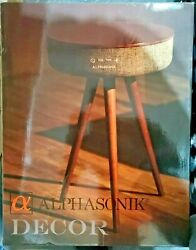 Alphasonik Decor Home Bluetooth Speaker Table W/ Built-in Qi Wireless Charger