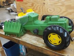 Rolly Toys John Deere Pedal Tractor With Working Loader And Backhoe Digger Yout