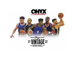 2020/21 Onyx Vintage Collection Basketball 24 Box Case Factory Sealed Presale