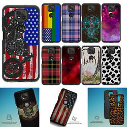For [moto G Play 2021 Only][embossed Duo Set12] Shock Combat Case