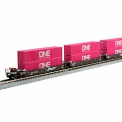 Kato 1066195 - Maxi-i 5 Pack W/ One Containers Bnsf Railway Bnsf 238693 - ...