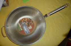 Williams Sonoma Steel Grill Chef's Bbq Grilling Pan W/ Removable Handle 15 New