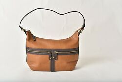 TIGNANELLO Caramel with Brown Trim Leather Designer Hobo Bag Pre Owned $26.00