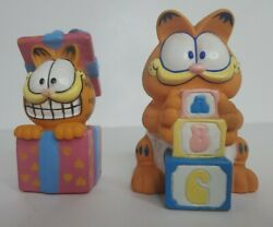 Vintage Garfield Squeaky Toys Present / Gift And Alphabet Blocks - Rubberized Toy