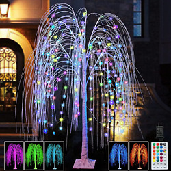 288led 6ft Lighted Willow Tree Christmas Decoration Color Changing Tree With Pur