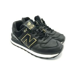 New Balance 574 Black Gold Running Jogging Shoes Womenand039s Size 8 B