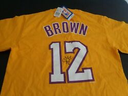 Shannon Brown Los Angeles Lakers Basketball Signed Jersey Style M Shirt New Nba