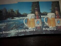 2 Genuine Original Old Style Beer Placemats Heileman Lacrosse Wisconsin Wi. Bar