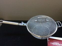 Williams Sonoma Mesh Chef's Grill Pan W/ Lid And Handle, - Bbq, Stainless Steel