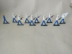 Vintage Lot Of 11 Cast Iron Navy Toy Soldiers Sailors Made In Russia