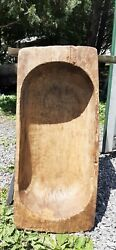 Large Wooden Dough Bowl Farmhouse Bread Trencher 2104