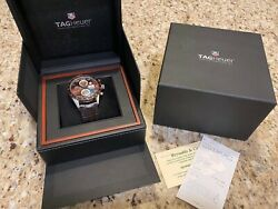 Tag Heuer Carrera Brown Menand039s Watch - Cv2a12.fc6236 Andndash Brown Alligator Band