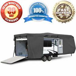 Travel Trailer Toy Hauler Storage Cover With Ramp Door Access - Length 35and039 - 38and039