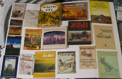17 Books On Old West Stuff Cowboys, Wagon Trains, Stages, Pioneers, Ponderosa